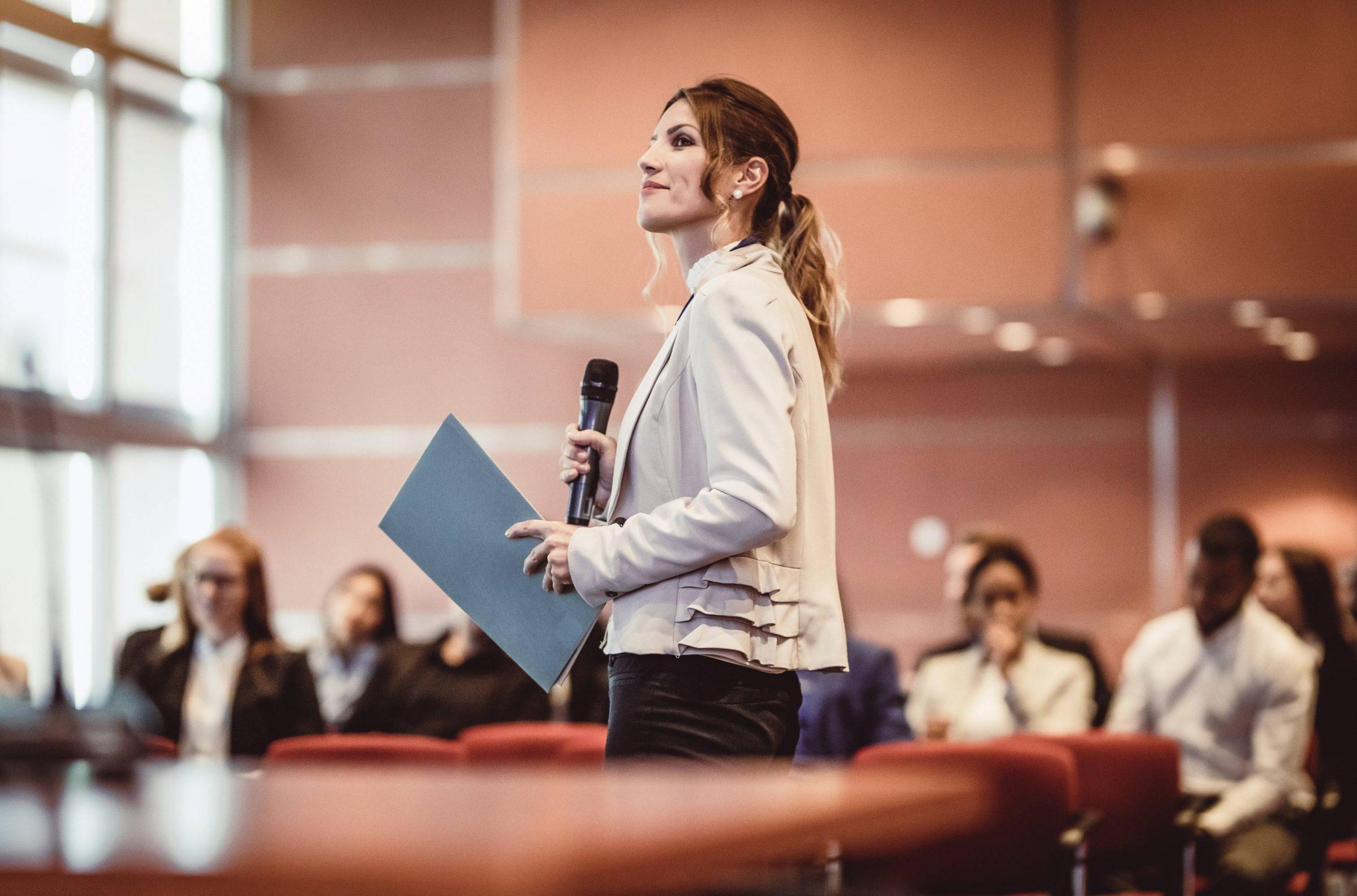 linguagem corporal em apresentações